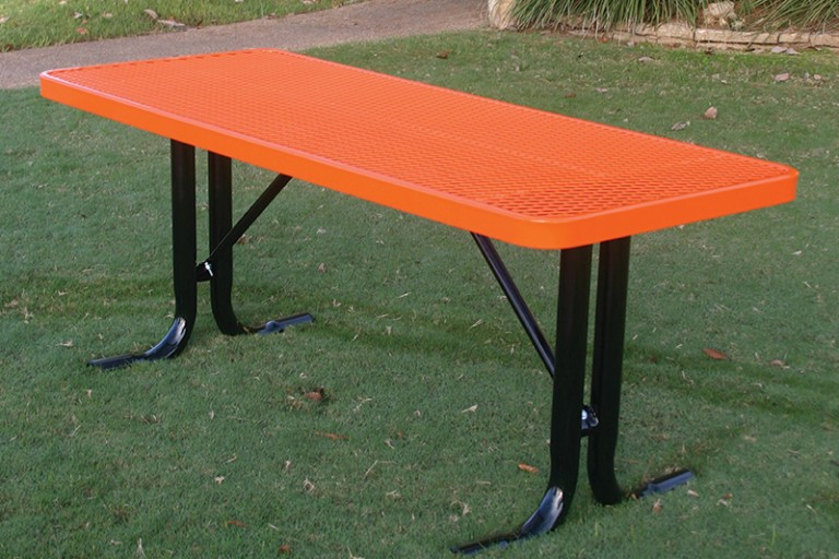 MyTCoat Utility Table in Orange Finish
