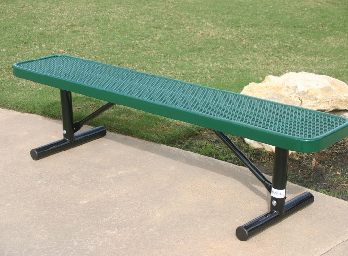 Player's Bench without Back Green