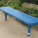 Player's Bench without Back Blue