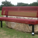 Rolled Bench with Back Red