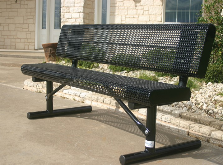 Rolled Bench with Back Black