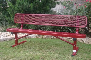bench with back - red