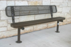 bench with back - brown