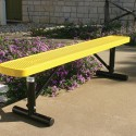 Yellow Rectangular Bench Without Back