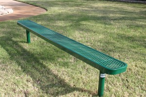 Green Rectangular Bench Without Back