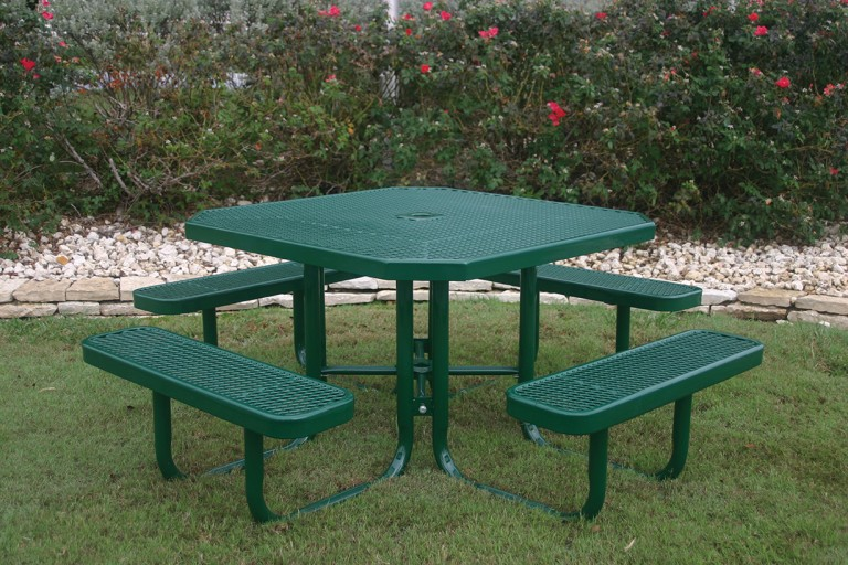 Portable Octagon Picnic Table Green
