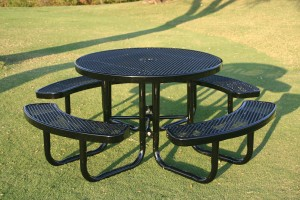 Round Portable Picnic Table - Dark