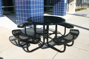 Solid Top Picnic Table - Black
