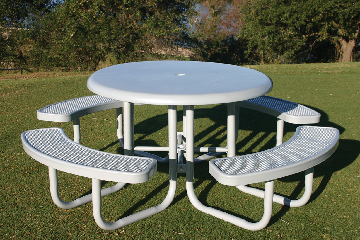 Solid Top Picnic Table