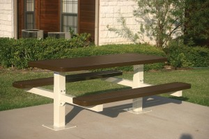 Pedestal Picnic Table - Brown
