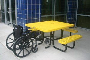 Yellow Portable Picnic Table