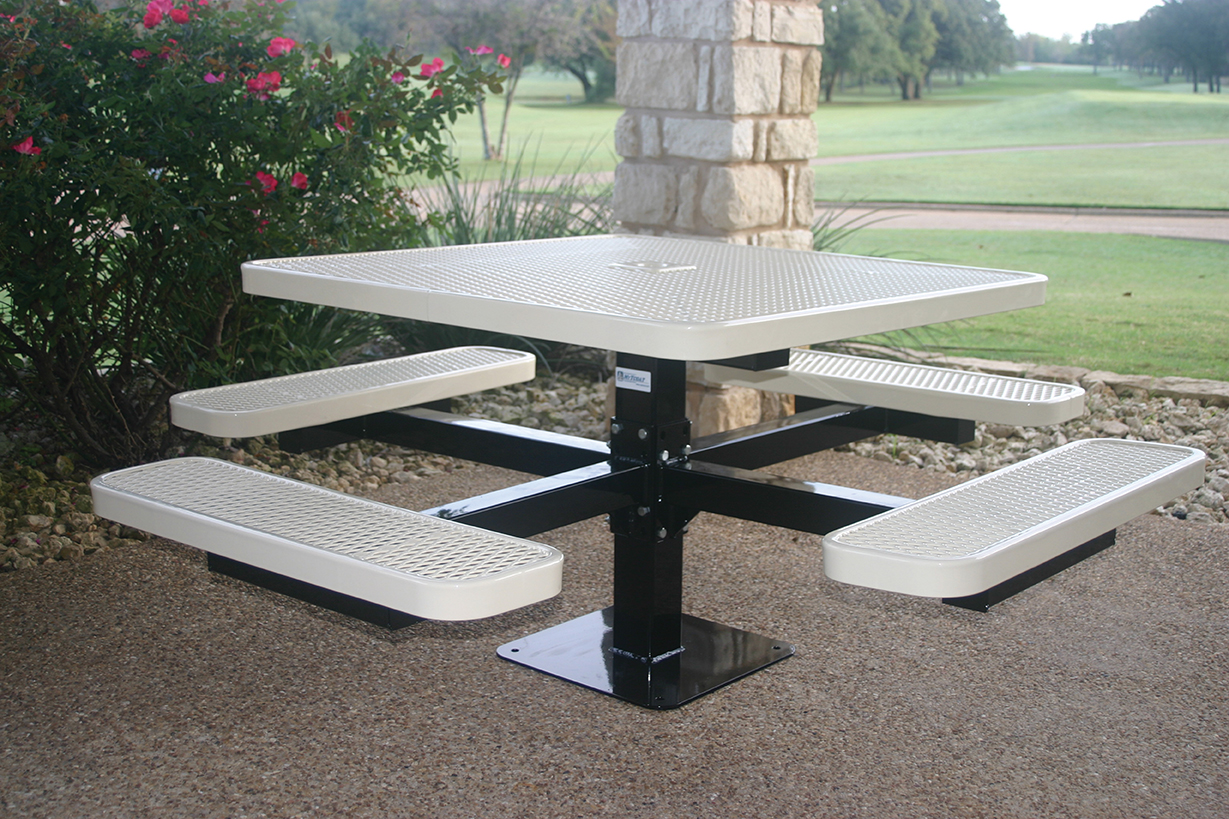 Square Pedestal Picnic Table