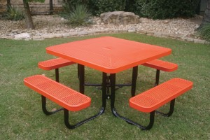 Red Portable Picnic Table