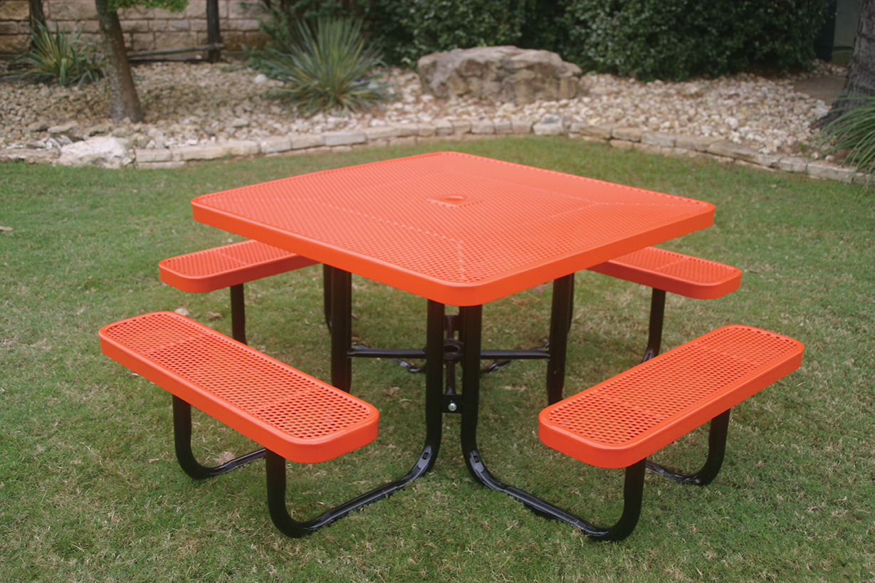 square portable picnic table mytcoatmytcoat. Black Bedroom Furniture Sets. Home Design Ideas