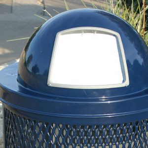 Steel Dome Trash Receptacle Cover