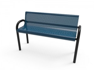 6' MOD Bench - Punched Steel - Inground Mount