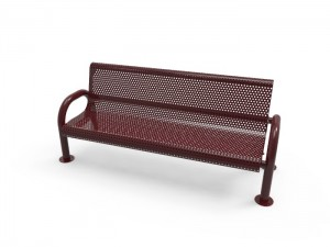 6' MOD Bench - Punched Steel - Surface Mount