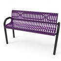6' MOD Bench - Slatted Steel - Inground Mount